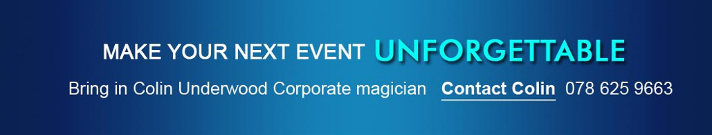 book colin underwood corporate magician